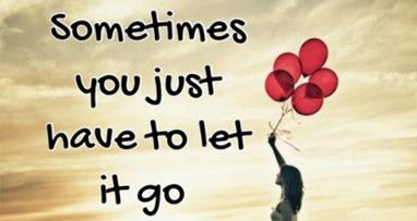 Let it go, let it go, let it go….