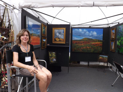 Jennifer Kane at her Arts Fest booth